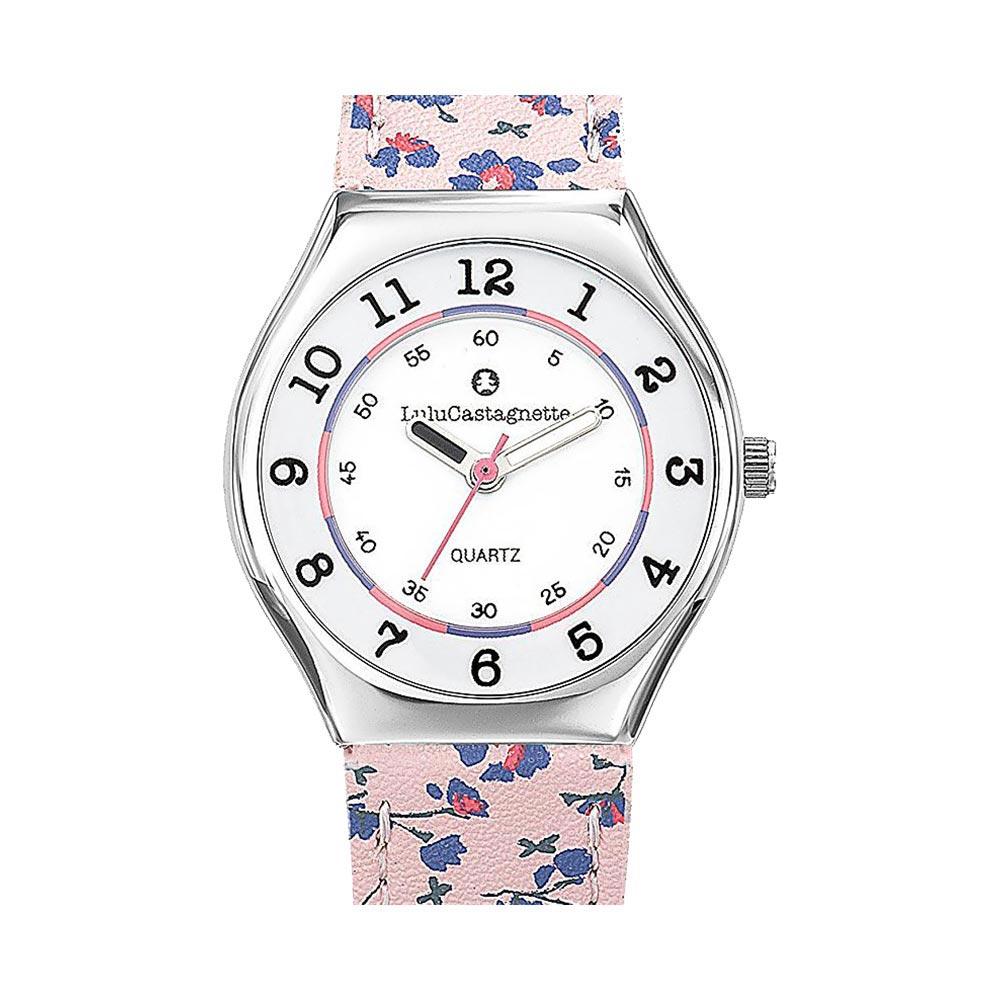 Παιδικό Ρολόι Lulu Castagnette Ministar Fleuer Ροζ/Μωβ 38827