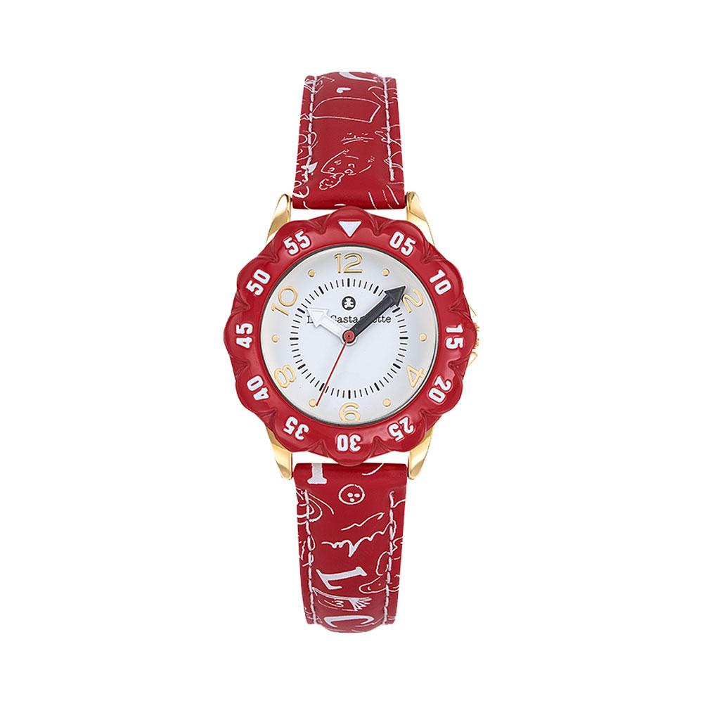 Παιδικό Ρολόι Lulu Castagnette Petale Κόκκινο 38867