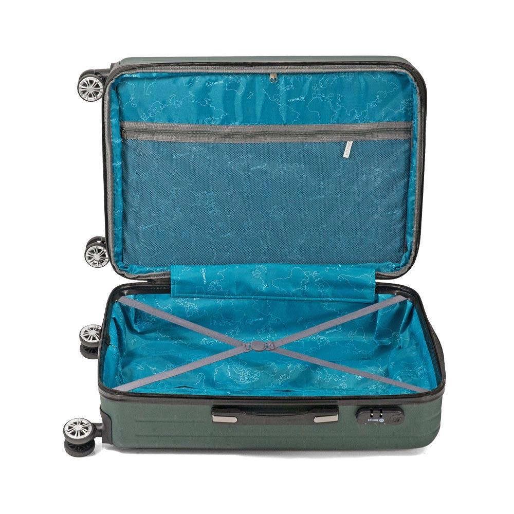 Σετ 3 Βαλίτσες Με Προέκταση BENZI Πράσινο BZ5493