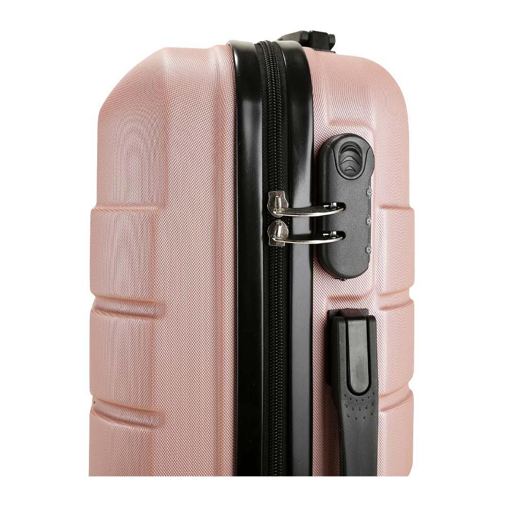 Σετ 3 Βαλίτσες SHOWKOO Ροζ/Χρυσό HT007