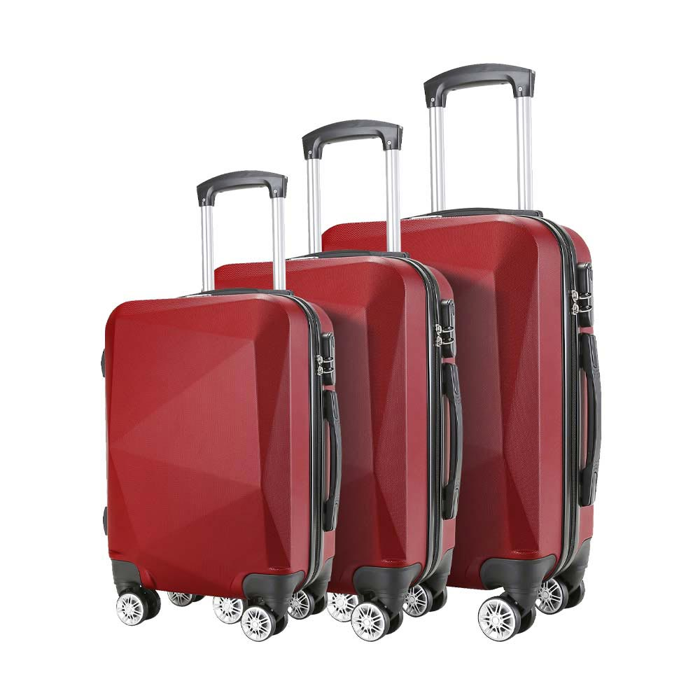 Σετ 3 Βαλίτσες SHOWKOO Μπορντό HT3755