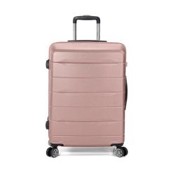 Βαλίτσα Μεσαία BENZI Ροζ/Χρυσό BZ5583