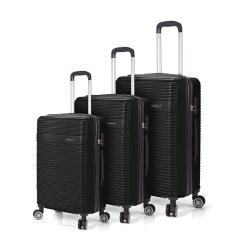 Σετ 3 Βαλίτσες BENZI Μαύρο BZ5418
