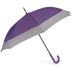 Ομπρέλα Αυτόματη Μπαστούνι BENZI  Μωβ/Γκρι PA084