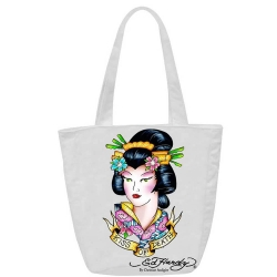 Tote bag ED HARDY ORIGINAL Λευκή ED08