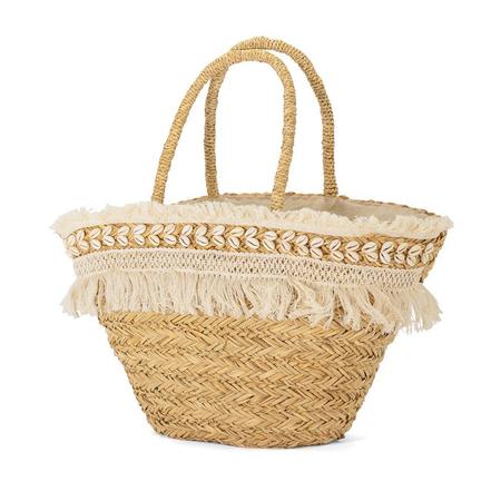 Τσάντα Θαλάσσης Ψάθινη BENZI Μπεζ BZ5421