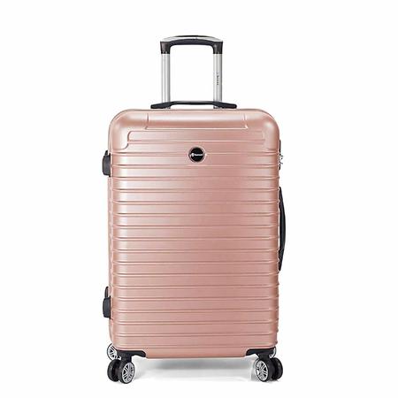 Βαλίτσα μεσαία σκληρή ροζ/χρυσό με 4 ρόδες