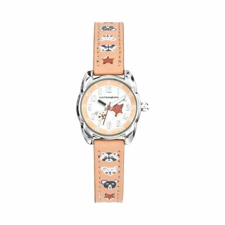 Παιδικό Ρολόι Lulu Castagnette Petite Lulu Animals Ροζ 38845