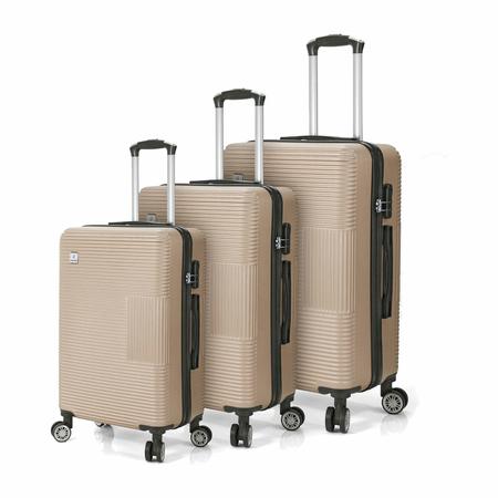 Σετ 3 Βαλίτσες BENZI Χρυσό BZ5417