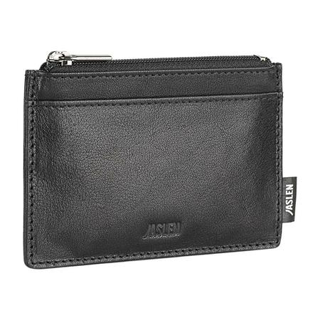 Πορτοφόλι με μπρελόκ μαύρο με θήκες