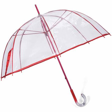 Ομπρέλα Χειροκίνητη Μπαστούνι BENZI Κόκκινη PA060