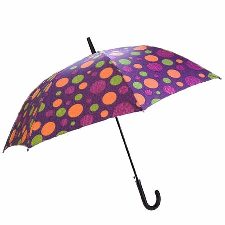 Ομπρέλα Αυτόματη Μπαστούνι BENZI Μωβ PA063